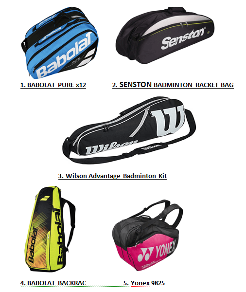 5 Best Badminton Kit Bags in 2021 | Expert Recommendation