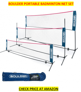 BOULDER PORTABLE Best Badminton Net set 2020