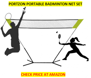 Portzon Portable Best Badminton Net Sets 2020